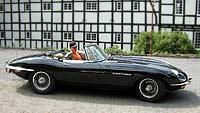 Geschenkgutschein-selberfahren-im Jaguar-E, Ein Jaguar E Cabriolet von 1969