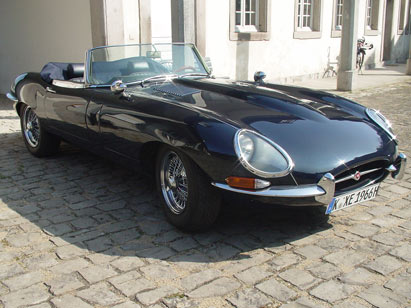 jaguar club e type oldtimer event jaguar e verleih. Black Bedroom Furniture Sets. Home Design Ideas